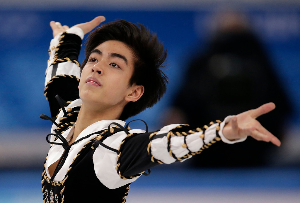 . Michael Christian Martinez of the Philippines competes in the men\'s short program figure skating competition at the Iceberg Skating Palace during the 2014 Winter Olympics, Thursday, Feb. 13, 2014, in Sochi, Russia. (AP Photo/Bernat Armangue)