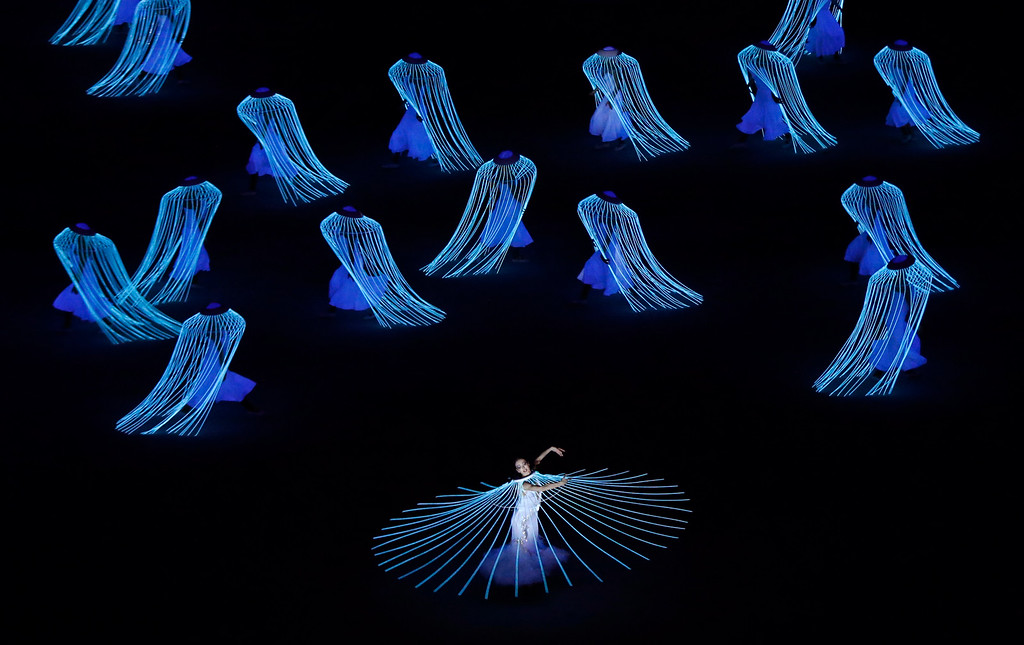 . Artists perform during the opening ceremony of the 2014 Winter Olympics in Sochi, Russia, Friday, Feb. 7, 2014. (AP Photo/Robert F. Bukaty)