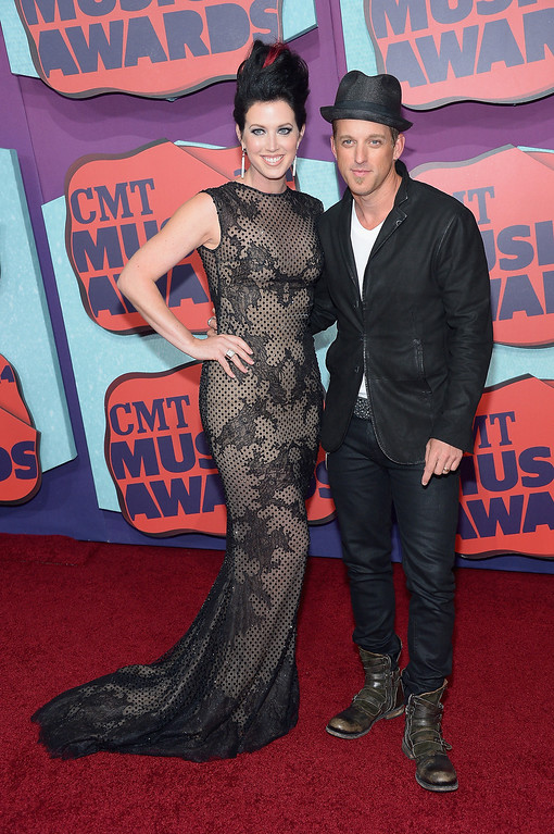 . Shawna Thompson and Keifer Thompson of Thompson Square attend the 2014 CMT Music awards at the Bridgestone Arena on June 4, 2014 in Nashville, Tennessee.  (Photo by Michael Loccisano/Getty Images)