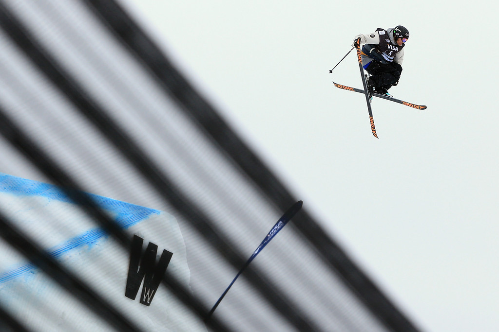 . Andreas Haatveit of Norway goes airborne as he skis to first place in the men\'s FIS Slopestyle Ski World Cup at the U.S. Snowboarding and Freeskiing Grand Prix on December 21, 2013 in Copper Mountain, Colorado.  (Photo by Doug Pensinger/Getty Images)