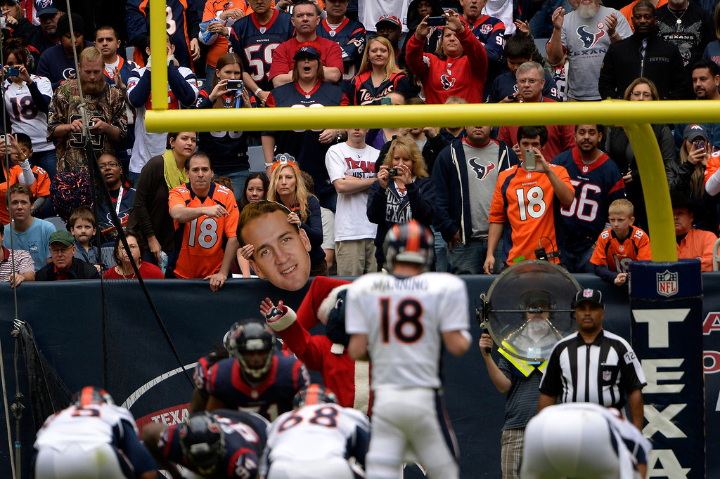 . Bronco fans at  Denver Broncos vs the Houston Texans at Reliant Stadium December 22, 2013 Houston, Texas. (Photo By Joe Amon/The Denver Post)