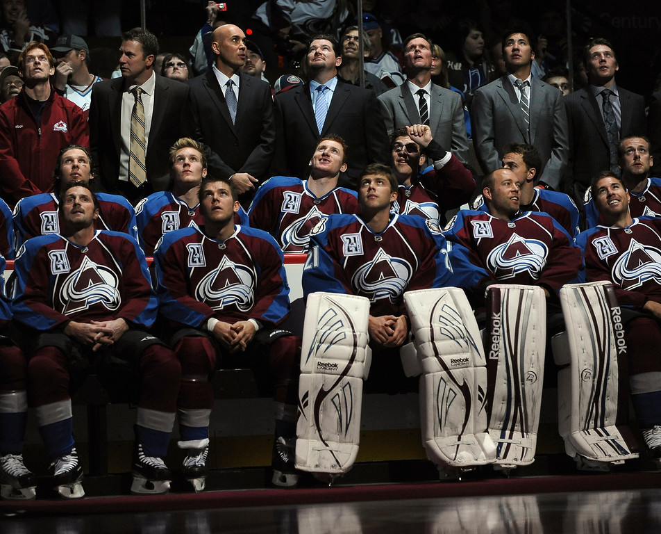 . Current players and coaches watched a video tribute to Peter Forsberg before the game. The Colorado Avalanche retired Peter Forsberg\'s #21 jersey in a ceremony at the Pepsi Center Saturday night.  Forsberg\'s 19-year professional career included 13 years in the National Hockey League where he won two Stanley Cups with the Avs. The Colorado Avalanche hosted the Detroit Red Wings in the season opener Saturday night, October 8, 2011.  Karl Gehring/The Denver Post