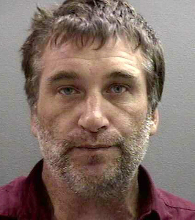 . This file photo originally released  Nov. 9, 2006, by the Orange County Sheriff\'s Department shows actor Daniel Baldwin in a booking mug taken in Santa Ana, Calif., after he was arrested Nov. 8, 2006, on suspicion of stealing an SUV in Santa Monica, Calif. (AP Photo/Orange County Sheriffs Department, file)