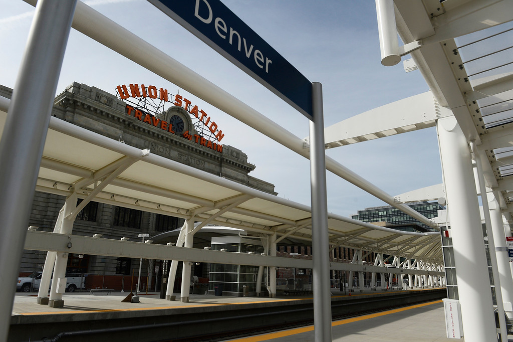 . DENVER, CO. - APRIL 25: Union Station Transit Center Train Hall area Friday morning, April 25, 2014. (Photo By Andy Cross / The Denver Post)