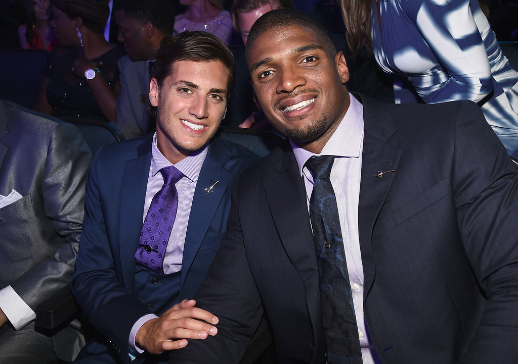 . LOS ANGELES, CA - JULY 16:  Vito Cammisano and NFL player Michael Sam attend The 2014 ESPYS at Nokia Theatre L.A. Live on July 16, 2014 in Los Angeles, California.  (Photo by Michael Buckner/Getty Images For ESPYS)