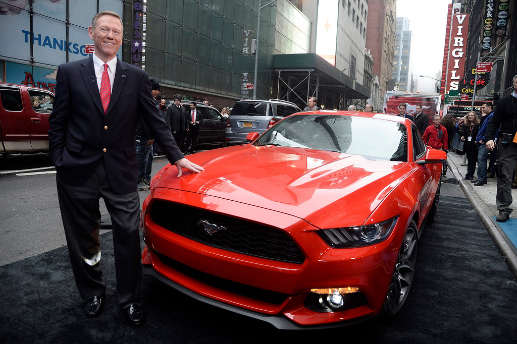 . Ford CEO Allen Mulally unveils the 2015 Ford Mustang on the set of Good Morning America  in New York, New York, USA, 05 December 2013.  EPA/ANDREW GOMBERT
