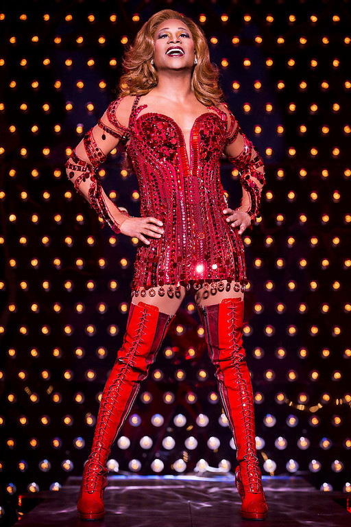 """. Actor Billy Porter sings during a performance of the play Kinky Boots in this undated handout photo provided by public relations company O&M Co. on April, 30, 2013. The musical \""""Kinky Boots,\"""" with the score by pop star Cyndi Lauper, on Tuesday earned 13 nominations for the Tony Awards, leading the field for Broadway\'s highest honor and closely followed by British import \""""Matilda,\"""" which received 12. REUTERS/O&M Co./Matthew Murphy/Handout"""