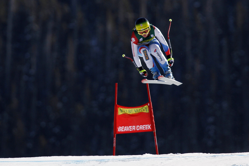 . Fabienne Suter of Switzerland competes during the Audi FIS Alpine Ski World Cup Women\'s Downhill on November 29, 2013 in Beaver Creek, Colorado. (Photo by Alexis Boichard/Agence Zoom/Getty Images)