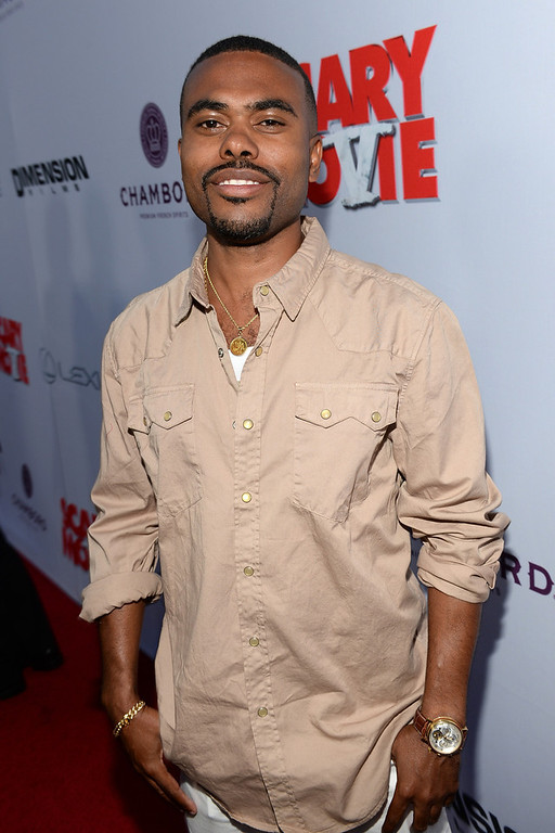 """. Actor Lil Duval arrives for the premiere of Dimension Films\' \""""Scary Movie 5\"""" at ArcLight Cinemas Cinerama Dome on April 11, 2013 in Hollywood, California.  (Photo by Michael Buckner/Getty Images)"""