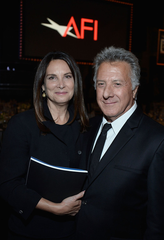 . Lisa Hoffman and actor Dustin Hoffman attend the 41st AFI Life Achievement Award Honoring Mel Brooks at Dolby Theatre on June 6, 2013 in Hollywood, California. Special Broadcast will air Saturday, June 15 at 9:00 P.M. ET/PT on TNT and Wednesday, July 24 on TCM as part of an All-Night Tribute to Brooks.  (Photo by Frazer Harrison/Getty Images for AFI)