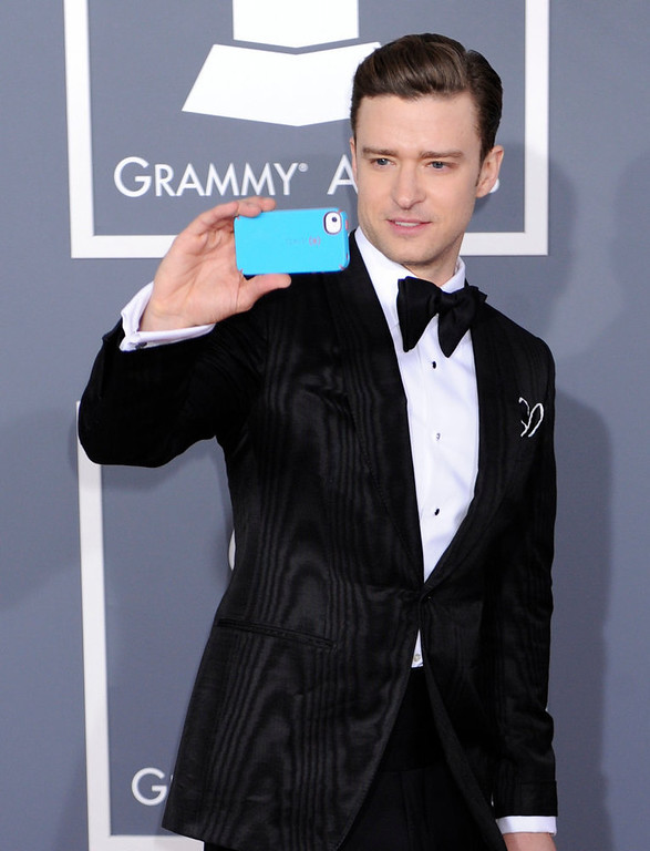 . Justin Timberlake arrives to  the 55th Annual Grammy Awards at Staples Center  in Los Angeles, California on February 10, 2013. ( Michael Owen Baker, staff photographer)