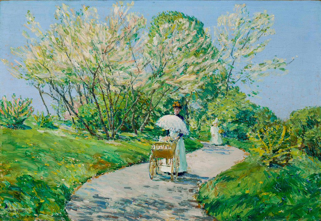 ". Childe Hassam, ""A Walk in the Park,\' 1900, 15x22.\"" (Image provided by the Denver Art Museum)"