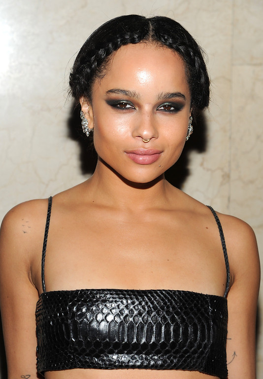 ". Actress Zoe Kravitz attends the Fashion Group International\'s 30th annual ""Night Of Stars\"" awards gala at Cipriani\'s Wall Street on Tuesday, Oct. 22, 2013, in New York. (Photo by Evan Agostini/Invision/AP)"