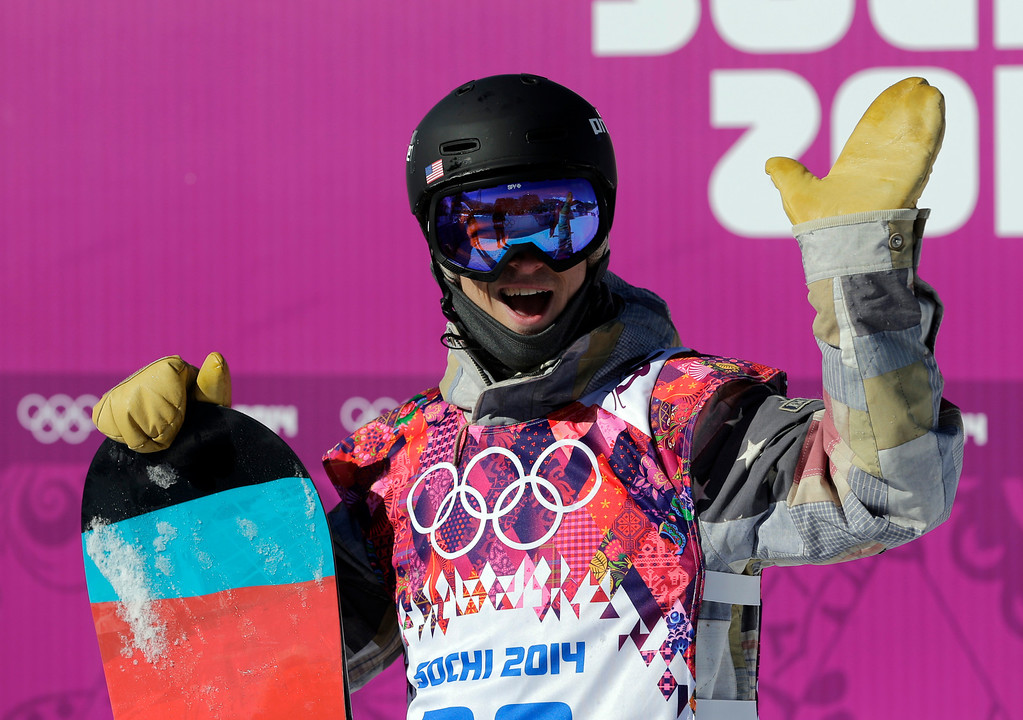 . United States\' Ryan Stassel reacts after a run during the men\'s snowboard slopestyle qualifying at the Rosa Khutor Extreme Park ahead of the 2014 Winter Olympics, Thursday, Feb. 6, 2014, in Krasnaya Polyana, Russia.  (AP Photo/Andy Wong)