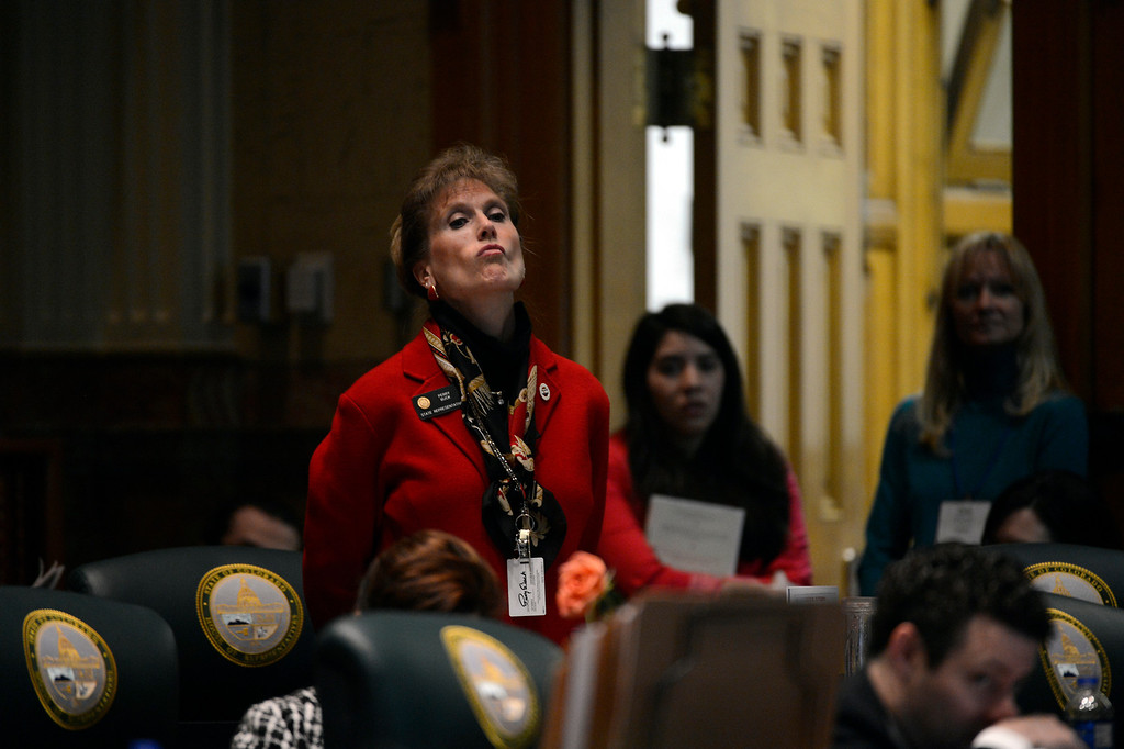 . DENVER, CO. - FEBRUARY 15: Representative Perry Buck listens to arguments on HB 1224 prohibiting large capacity ammunition magazines in the Colorado House at the Denver State Capitol February 15, 2013. Denver, Colorado. (Photo By Joe Amon/The Denver Post)