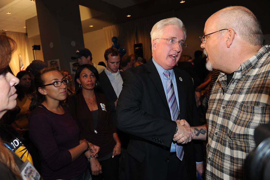 . COLORADO SPRINGS, CO - SEPTEMBER 10:  Colorado State senator John Morse conceded defeat after losing the recall election at the Wyndham Hotel in Colorado Springs, CO on September 10, 2013. (Photo By Helen H. Richardson/ The Denver Post)