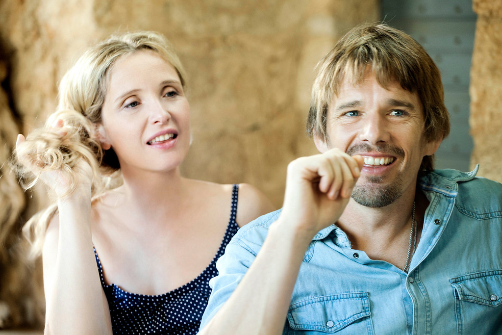 ". Left to right: Celine (Julie Delphy) and Jesse (Ethan Hawke) return for in Richard Linklater\'s third installment of their relationship saga ""Before Midnight.\"" Provided by Sony Pictures Classics."