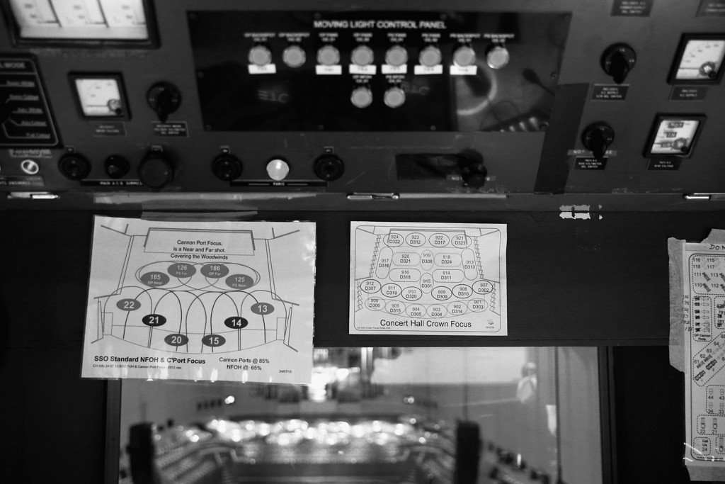 . Lighting diagrams are displayed inside the Concert Hall control room in the Sydney Opera House on September 20, 2013 in Sydney, Australia. On October 20, 2013 the iconic Sydney Opera House will celebrate 40 years since it was officially opened by Queen Elizabeth II in 1973. (Photo by Cameron Spencer/Getty Images)