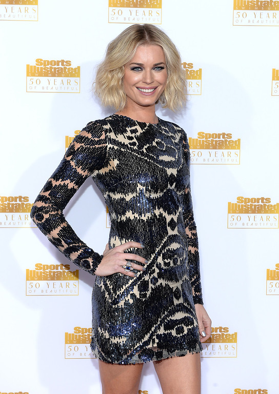 . Actress Rebecca Romijn attends NBC and Time Inc. celebrate the 50th anniversary of the Sports Illustrated Swimsuit Issue at Dolby Theatre on January 14, 2014 in Hollywood, California.  (Photo by Dimitrios Kambouris/Getty Images)