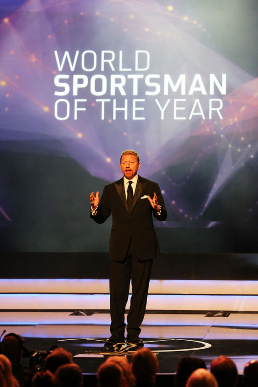 ". Laureus Academy Member Boris Becker presents the award for ""Laureus World Sportsman of the Year\"" during the awards show for the 2013 Laureus World Sports Awards at the Theatro Municipal Do Rio de Janeiro on March 11, 2013 in Rio de Janeiro, Brazil.  (Photo by Ian Walton/Getty Images For Laureus)"