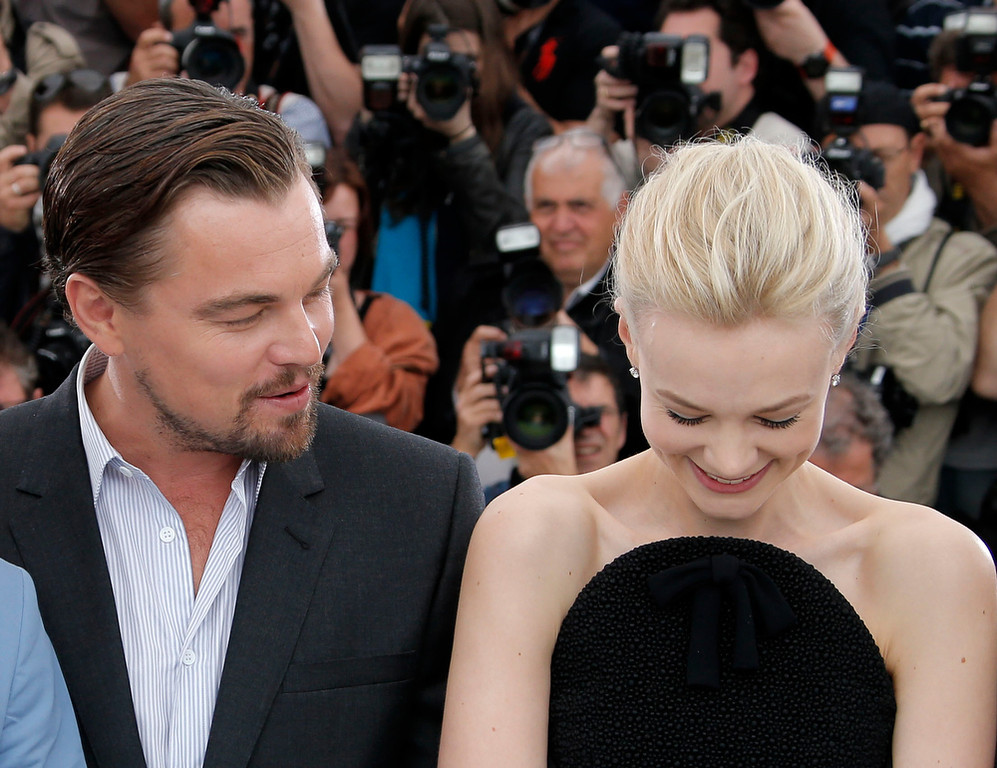 . Actors Leonardo DiCaprio and Carey Mulligan pose for photographers during a photo call for the film The Great Gatsby at the 66th international film festival, in Cannes, southern France, Wednesday, May 15, 2013. (AP Photo/Francois Mori)