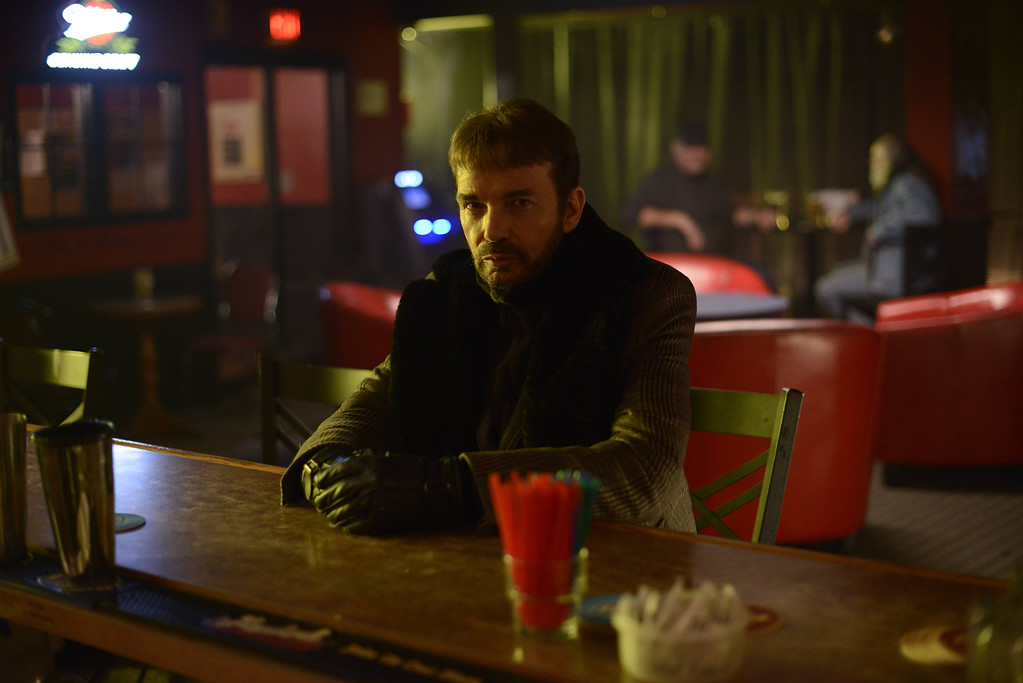 ". This image released by FX shows Billy Bob Thornton as Lorne Malvo in a scene from ""Fargo.\"" Thornton was nominated for an Emmy Award for best actor in a miniseries or movie on Thursday, July 10, 2014. The 66th Primetime Emmy Awards will be presented Aug. 25 at the Nokia Theatre in Los Angeles. (AP Photo/FX, Chris Large)"