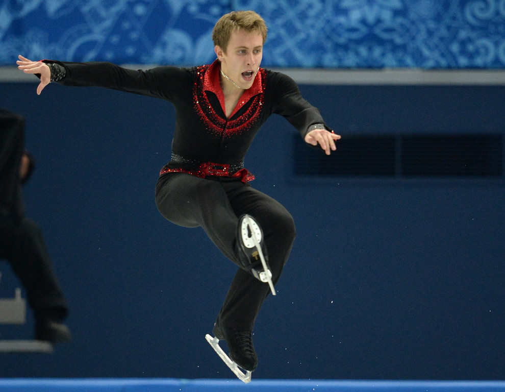 . Czech Republic\'s Michal Brezina performs during the Men\'s Figure Skating Short Program at the Iceberg Skating Palace during the Sochi Winter Olympics on February 13, 2014.   YURI KADOBNOV/AFP/Getty Images