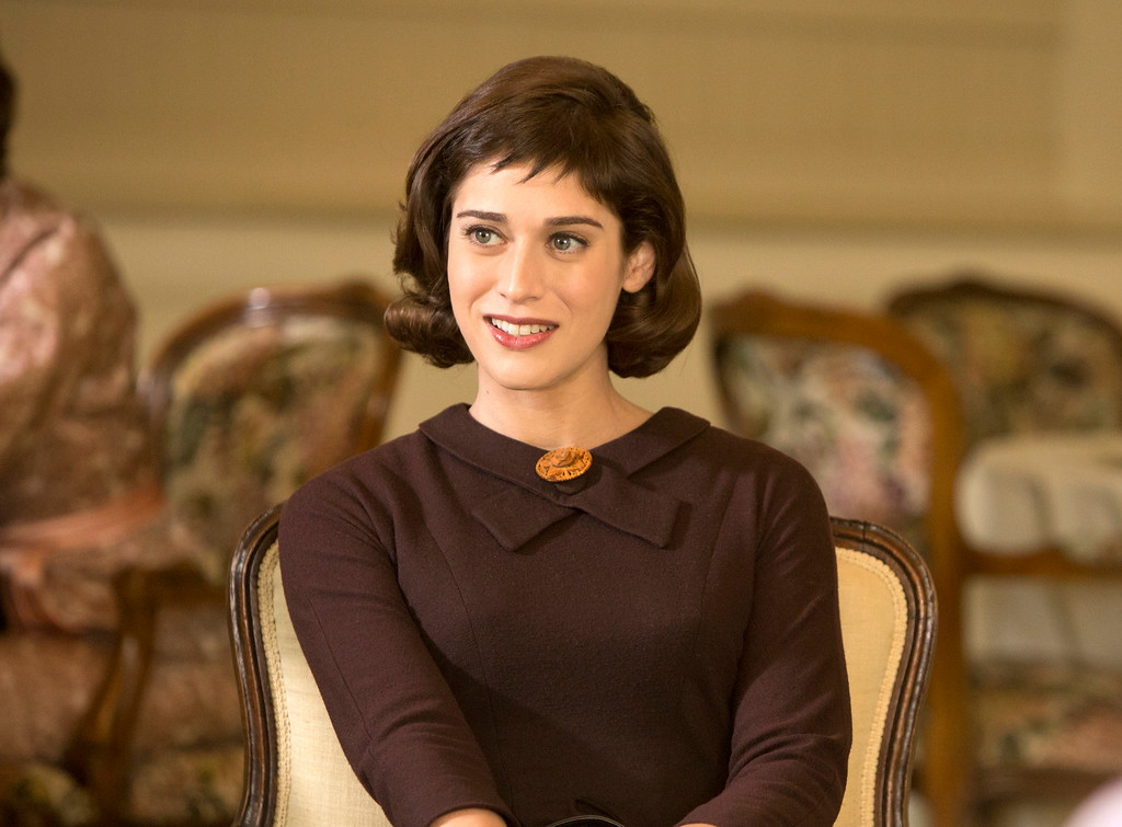 ". This image released by Showtime shows Lizzy Caplan as Virginia Johnson in ""Masters of Sex.\"" Caplan was nominated for an Emmy Award for best actress in a drama series on, Thursday July 10, 2014. The 66th Primetime Emmy Awards will be presented Aug. 25 at the Nokia Theatre in Los Angeles. (AP PHoto/Showtime, Michael Desmond)"