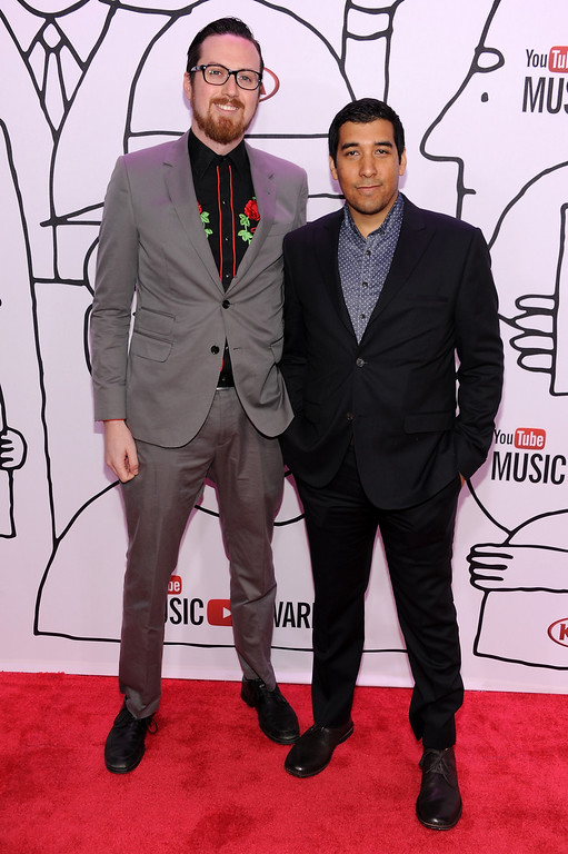 . Jon Baltz (L) and Brandon Martinez attend the YouTube Music Awards 2013 on November 3, 2013 in New York City.  (Photo by Dimitrios Kambouris/Getty Images)
