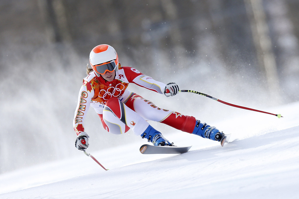. Marie-Michele Gagnon of Canada competes during the Alpine Skiing Women\'s Super Combined at the Sochi 2014 Winter Olympic Games at Rosa Khutor Alpine Centre on February 10, 2014 in Sochi, Russia. (Photo by Alexis Boichard/Agence Zoom/Getty Images)