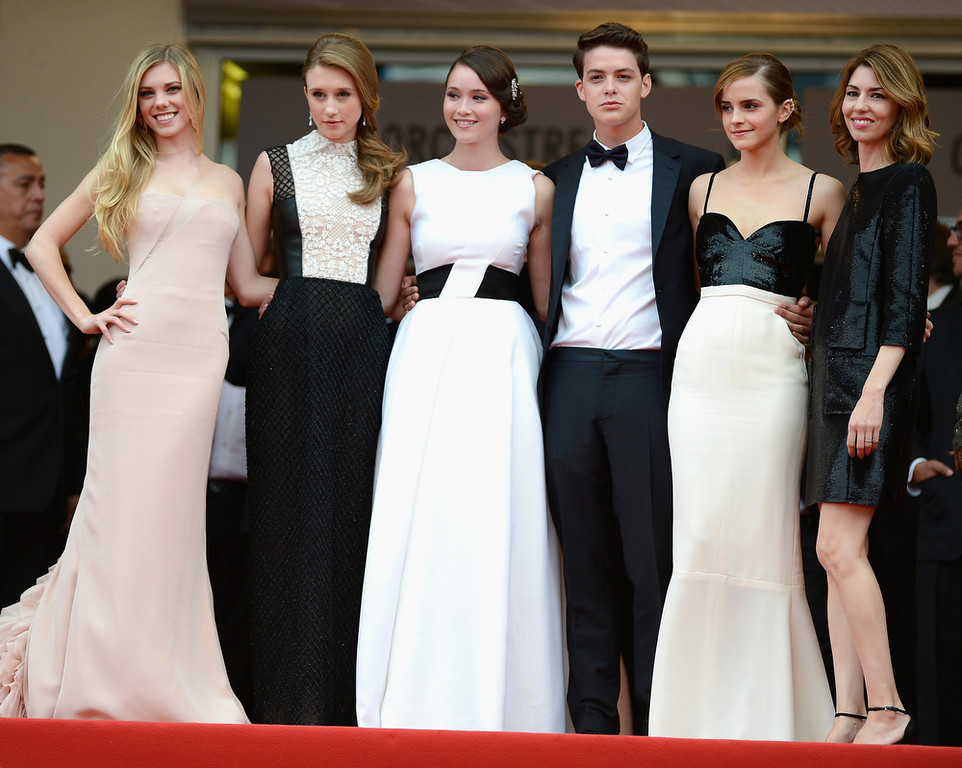 . Claire Julien, Taissa Fariga, Katie Chang, Israel Broussard, Emma Watson and Sophia Coppola attend \'The Bling Ring\' premiere during The 66th Annual Cannes Film Festival at the Palais des Festivals on May 16, 2013 in Cannes, France.  (Photo by Pascal Le Segretain/Getty Images)