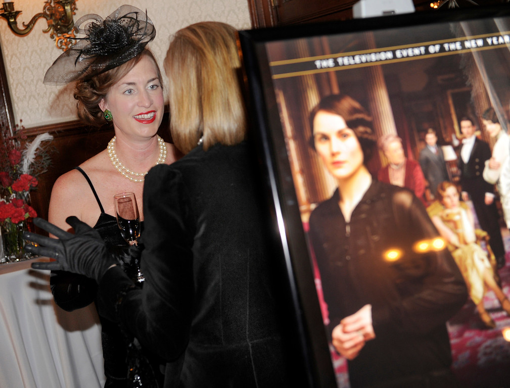 . The Rocky Mountain PBS Masterpiece Costume Ball attracted more than 200 fans of the Downton Abbey television drama Saturday night, January 4, 2014 at the Grant Humphreys Mansion. The show\'s new season starts Sunday night. The event also included a silent auction, historical displays, and a costume contest. Photo By Karl Gehring/The Denver Post