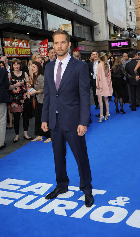 ". Actor Paul Walker attends the ""Fast & Furious 6\"" World Premiere at The Empire, Leicester Square on May 7, 2013 in London, England.  (Photo by Stuart C. Wilson/Getty Images for Universal Pictures)"