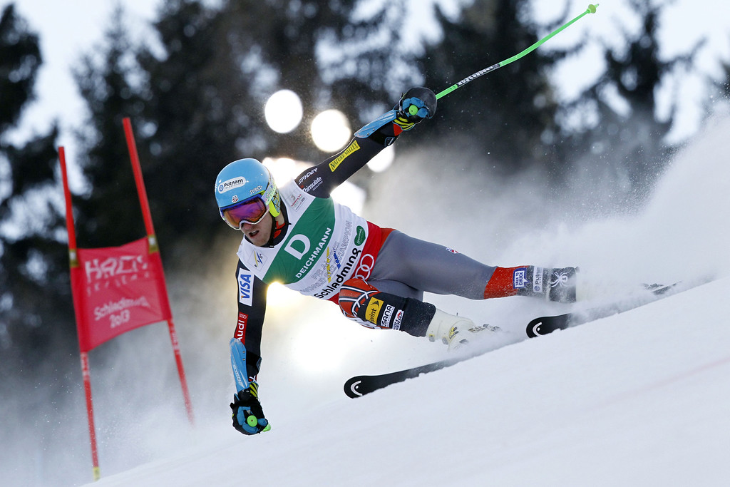 . SCHLADMING, AUSTRIA - FEBRUARY 15: (FRANCE OUT) Ted Ligety of the USA wins the gold medal during the Audi FIS Alpine Ski World Championships Men\'s Giant slalom on February 15, 2013 in Schladming, Austria. (Photo by Christophe Pallot/Agence Zoom/Getty Images)