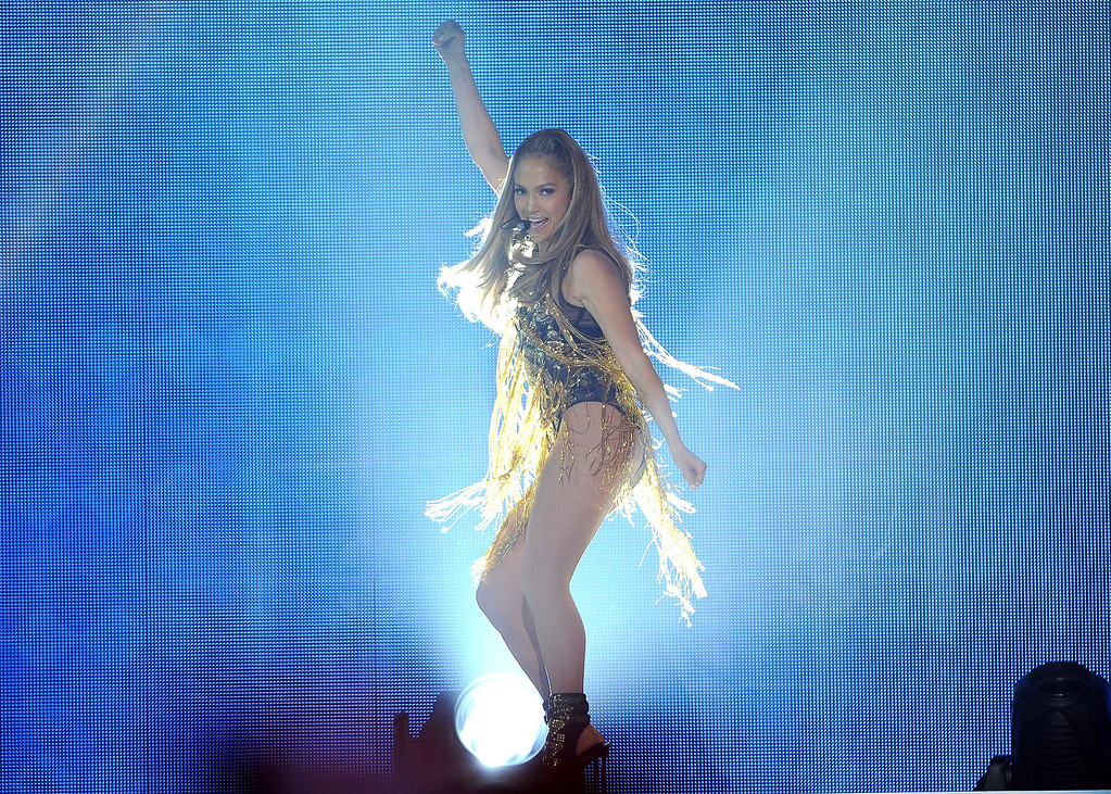 . Jennifer Lopez performs on stage at the Billboard Music Awards at the MGM Grand Garden Arena on Sunday, May 18, 2014, in Las Vegas. (Photo by Chris Pizzello/Invision/AP)
