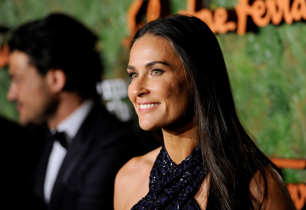 . Actress Demi Moore arrives at the Wallis Annenberg Center for the Performing Arts Inaugural Gala on Thursday, Oct. 17, 2013, in Beverly Hills, Calif. (Photo by Chris Pizzello/Invision/AP)