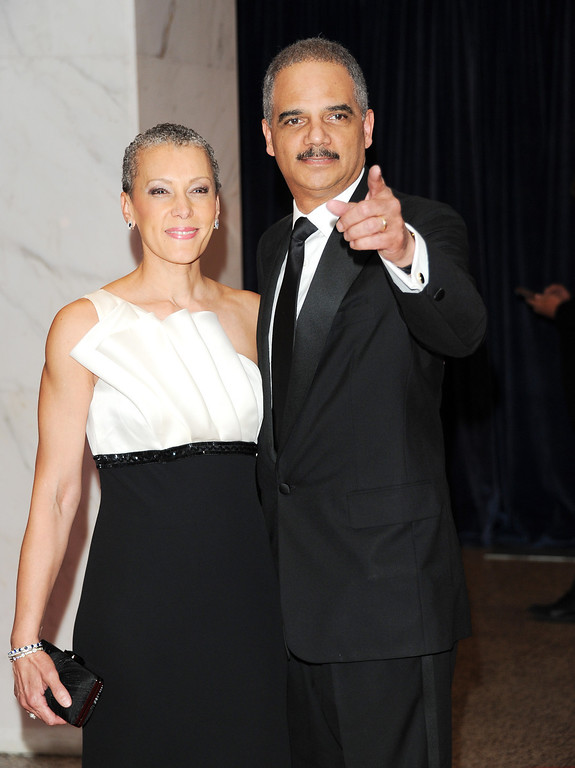 . Attorney General Eric Holder and his wife Sharon Malone Holder attend the White House Correspondents\' Dinner at the Washington Hilton on Saturday April 27, 2013 in Washington. (Photo by Evan Agostini/Invision/AP)