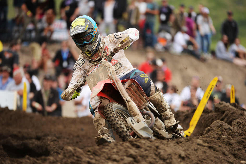 . Trey Canard (41) is competing 450 Class Moto #1 at Thunder Valley MX Park during the third round of the Lucas Oil Pro Motocross Championship. Lakewood, Colorado. June 07. 2014. (Photo by Hyoung Chang/The Denver Post)