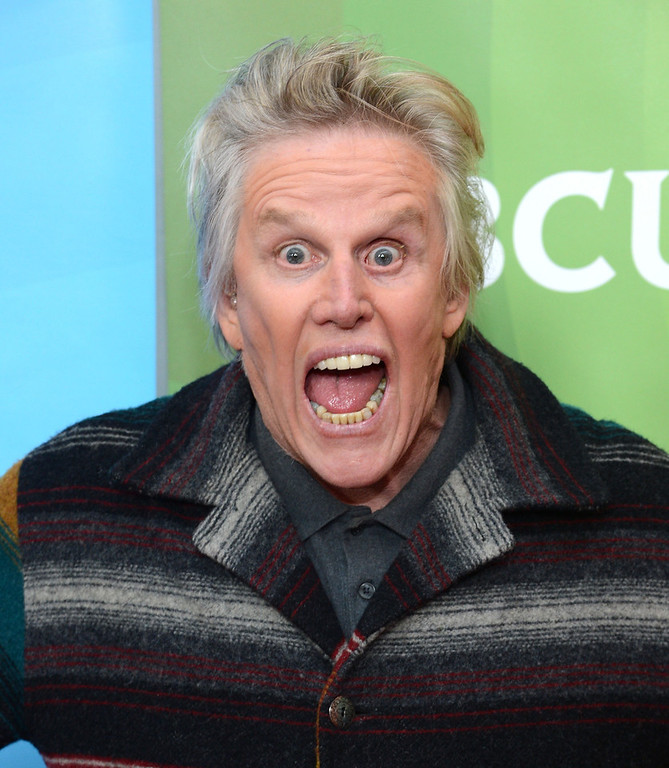 ". Gary Busey attends NBCUniversal\'s ""2013 Winter TCA Tour\"" Day 1 at Langham Hotel on January 6, 2013 in Pasadena, California.  (Photo by Jason Kempin/Getty Images)"