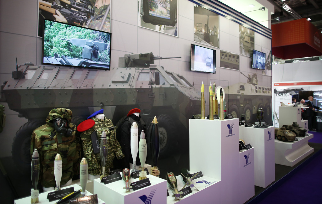 . Serbian military hardware is displayed at the Defence and Security Exhibition on September 10, 2013 in London, England.  (Photo by Peter Macdiarmid/Getty Images)