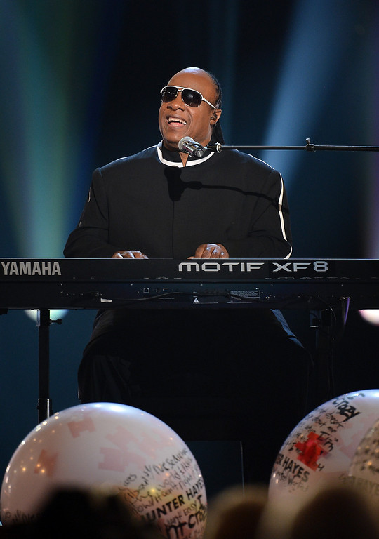 . Singer Stevie Wonder performs onstage during the 48th Annual Academy of Country Music Awards at the MGM Grand Garden Arena on April 7, 2013 in Las Vegas, Nevada.  (Photo by Ethan Miller/Getty Images)