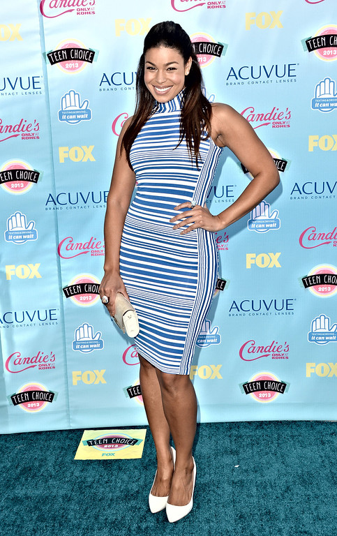 . Singer Jordin Sparks attends the Teen Choice Awards 2013 at Gibson Amphitheatre on August 11, 2013 in Universal City, California.  (Photo by Jason Merritt/Getty Images)