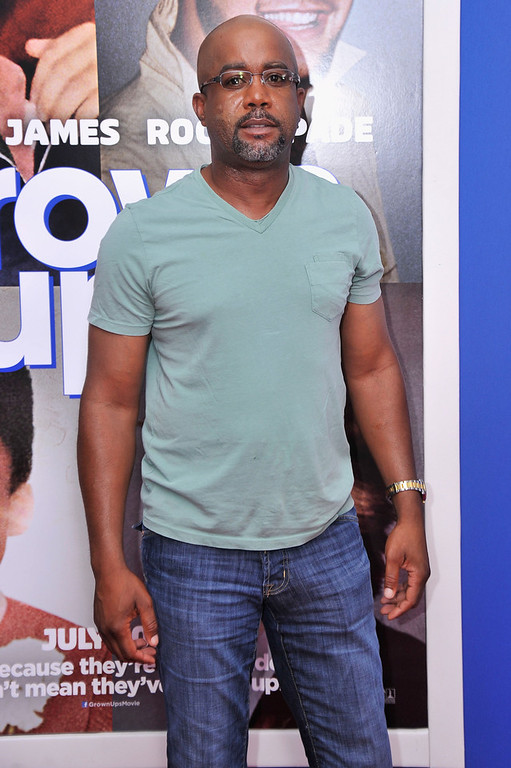 ". Musician Darius Rucker attends the ""Grown Ups 2\"" New York Premiere at AMC Lincoln Square Theater on July 10, 2013 in New York City.  (Photo by Stephen Lovekin/Getty Images)"