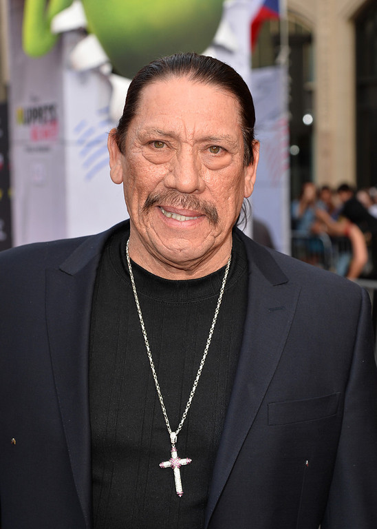 """. Actor Danny Trejo arrives for the premiere of Disney\'s \""""Muppets Most Wanted\"""" at the El Capitan Theatre on March 11, 2014 in Hollywood, California.  (Photo by Kevin Winter/Getty Images)"""