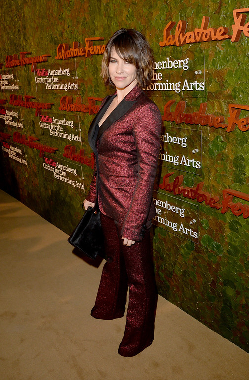 . Actress Evangeline Lilly arrives at the Wallis Annenberg Center for the Performing Arts Inaugural Gala presented by Salvatore Ferragamo at the Wallis Annenberg Center for the Performing Arts on October 17, 2013 in Beverly Hills, California.  (Photo by Jason Merritt/Getty Images for Wallis Annenberg Center for the Performing Arts)