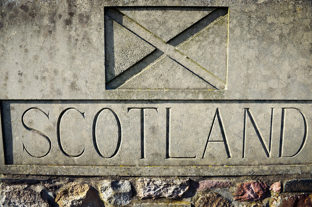 . A general view of the Scotland sign on the A1 on March 12, 2014  in Scotland. A referendum on whether Scotland should be an independent country will take place on Thursday September 18, 2014.  (Photo by Jeff J Mitchell/Getty Images)
