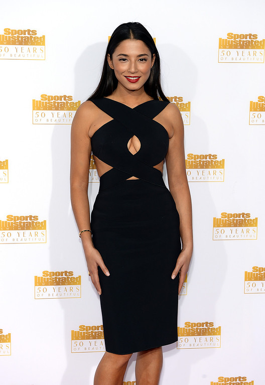 . Model Jessica Gomes attends NBC and Time Inc. celebrate the 50th anniversary of the Sports Illustrated Swimsuit Issue at Dolby Theatre on January 14, 2014 in Hollywood, California.  (Photo by Dimitrios Kambouris/Getty Images)