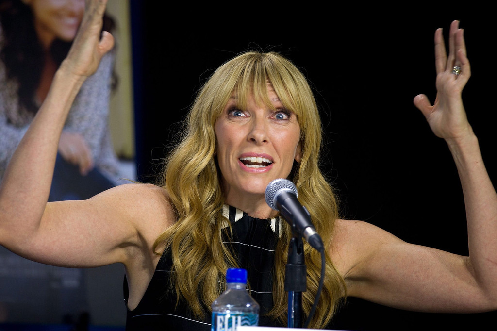 ". Actress Toni Collette speaks during the press conference for ""Enough Said\"" at the 2013 Toronto International Film Festival in Toronto on Sunday, Sept. 8, 2013. (AP Photo/The Canadian Press, Galit Rodan)"