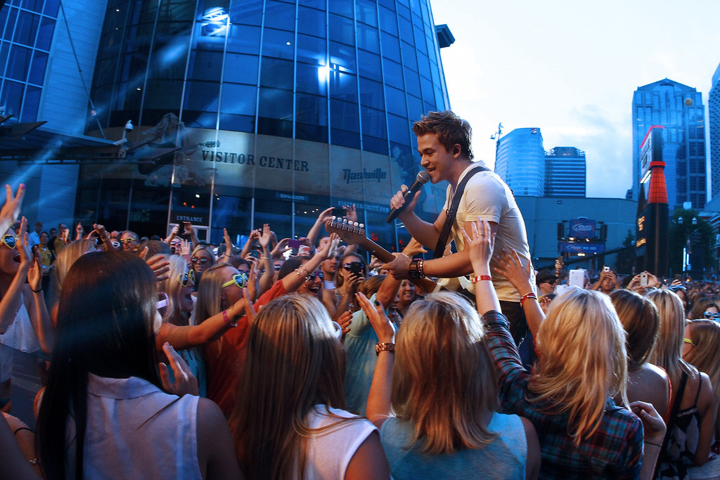 . Hunter Hayes performs at the 2013 CMT Music Awards at Bridgestone Arena on Wednesday, June 5, 2013, in Nashville, Tenn. (Photo by Wade Payne/Invision/AP)