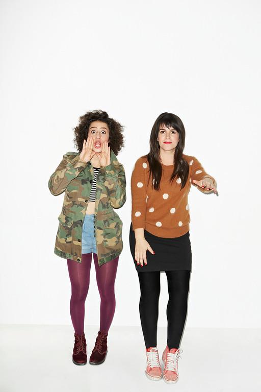 ". Ilana Glazer and Abbi Jacobson (l-r) \""Broad City.\"" (Photo by Lane Savage)"